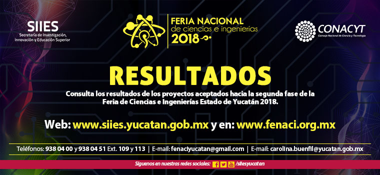 Resultados Fenaci 2018 1a Fase
